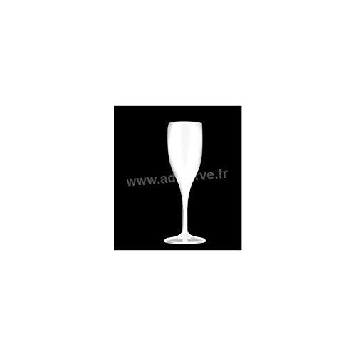 6 flûtes à champagne incassable SAN transparent de 150 cc
