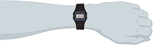 Casio Herren Armbanduhr Collection Digital Quarz Schwarz Resin F-91W-1Yer - 6