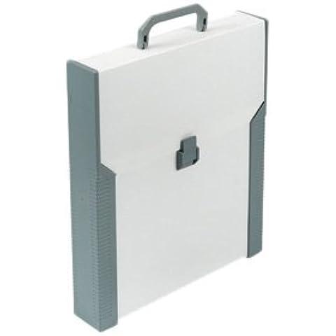 Aristo Studio Case - Maletín de plástico para tablero de dibujo A4, color beige y gris