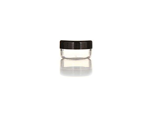 24PCS 10ml / 15ml / 20ml Durchsichtiger Kunststoff Leerer nachfüllbare Probenflasche Fall Cosmetic Vial Jar Pot Behälter Flasche mit schwarzem Schraubverschluss Deckel (10ml/0,33oz)