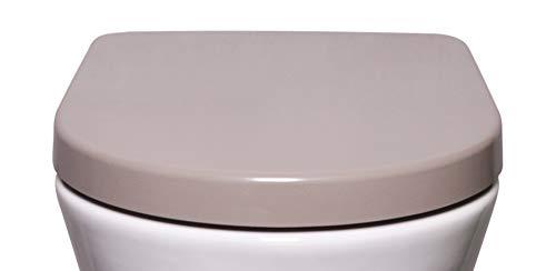 Bullseat 4.3 WC Sitz taupe D-Form • Absenkautomatik/Softclose • abnehmbar • easyclean • Toilettendeckel überlappend • Klobrille • hochwertiges Duroplast