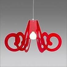 Emporium - Lámpara de techo tipo araña de metacrilato rojo