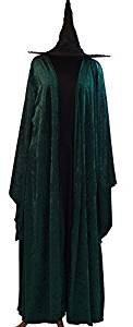 CL COSTUMES Halloween-Wizard Schule-Magie-Mcgonagall Hogwarts Hexe Kleid, Mantel & HAT Damenmode Kleid Kostüm - Von Größen 10-42 - Ladies: 16-20