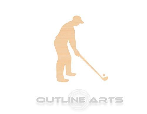 Rummy Golfschläger-Set, lasergeschnitten, Holzform