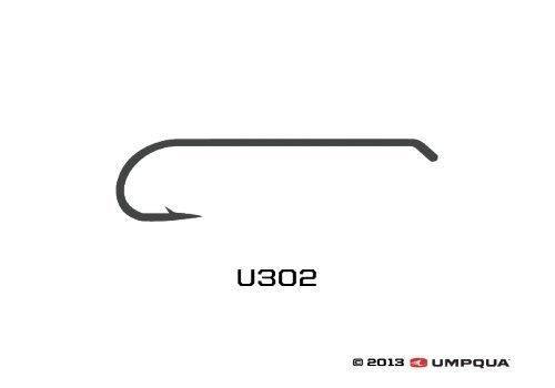 Umpqua u-series Fliegenbinden Haken U302, einfarbig -