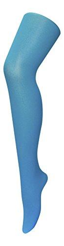 Sock Snob, Damen-Strumpfhose, 40Denier, Neonfarbe, blickdicht Gr. Medium, aqua blue (Blickdichte Farbige Strumpfhose)