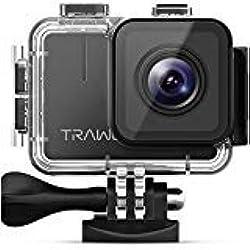 apeman Trawo Cámara Deportiva 4k WiFi Ultra HD 20MP Subacuática Impermeable 40M Videocámara con 170°Gran Angular EIS Estabilización Doble Baterías 1350mAh