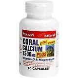 Coral Calcium 1500 Mg Capsules, By Mason-60 Capsu from NATURES BOUNTY.