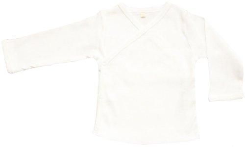 Organic Cotton Bambino Kimono GOTS Certified Senza Coloranti (Bianco, 6-12M)