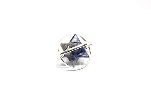 Talk to Crystals Lapis Lazuli Merkaba Pendant (1 Pc)