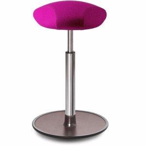 Ongo Sitz- und Stehhocker Free 58-82cm Triangle-Sitz Kvadrat divina pink/Walnuss/chrom