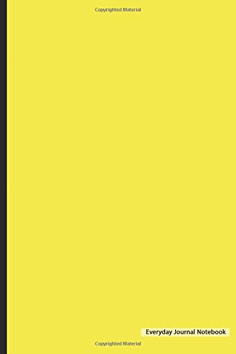 Everyday Journal Notebook - Blank Unlined (Yellow Cover): 6