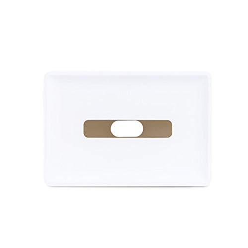 HYBKY Tissue Box Cover Rechteckigen Tissue Box Kunststoff Tissue Box Cover Schlafzimmer Schminktisch, Nachttisch, Schreibtisch, Tisch, weiß Taschentuchhalter -