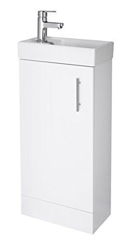 Premier nvx192400mm minimalista piedi intero unità e bacino–bianco lucido