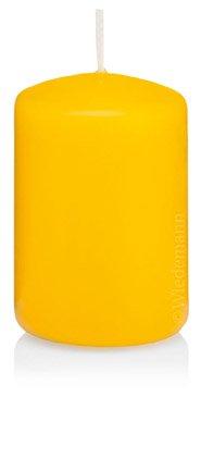 Sparpack Kerzen Stumpen Dotter Gelb 70 x 100mm 12 Stück, 218120