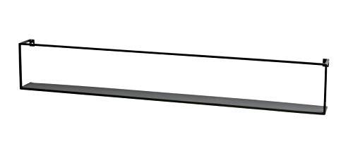 Woood Wandregal MEERT Metall Industrie Design schwarz 100 cm (Inkl. Wohnzeitschrift)