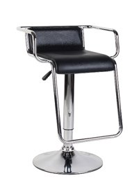 Contemporary Leather Effect Adjustable Barstool BLACK produced by Eliza Tinsley - quick delivery from UK.