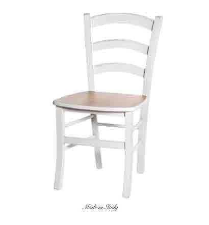 Sedia in legno stile vintage disponibile in diverse rifiniture L'ARTE DI NACCHI 4936/SCN