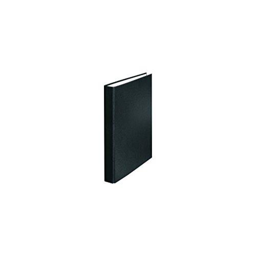 Falken PP-Color Kunststoff-Ringbuch 2 Ring-Mechanik DIN A5 Füllhöhe 25 mm schwarz Kalender Organizer Ring-Ordner Hefter Plastikordner