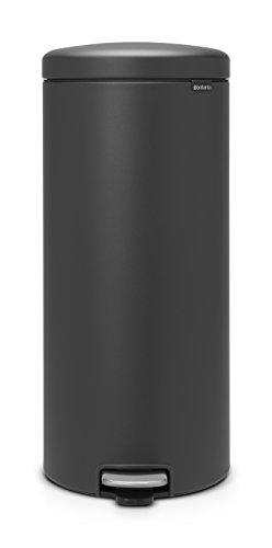 Brabantia newIcon Treteimer 30 L Sense of Luxury, Edelstahl, mineral infinite grau, 30 Liter -