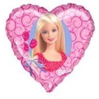 Folienballon Barbie Herz - bunt ca. 45 cm ungefüllt (Ballongas geeignet)