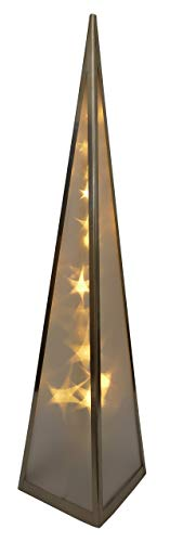 Pyramiden mit Hologramm für Weihnachten Deko innen Fenser (60 cm Metallrahmen)
