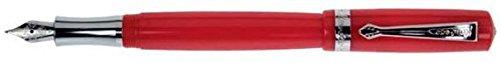 Kaweco Füllfederhalter Student I Premium Füllfederhalter für Tintenpatronen mit hochwertiger Stahlfeder I Nostalgischer Kaweco Luxus Füller Rot I Federbreite: B (Breit)