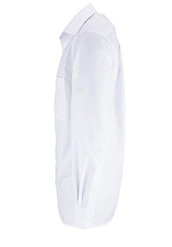 eterna Langarm Hemd Comfort Fit Popeline Unifarben weiss