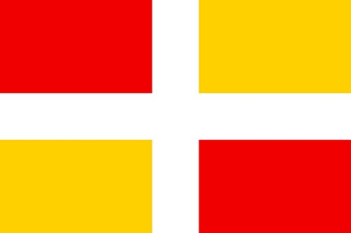 magFlags Flagge: Large D Aix-en-Provence | Potential historical flag of Aix-en-Provence | Historique potentiel d Aix-en-Provence | Querformat Fahne | 1.35qm | 90x150cm » Fahne 100% Made in Ge