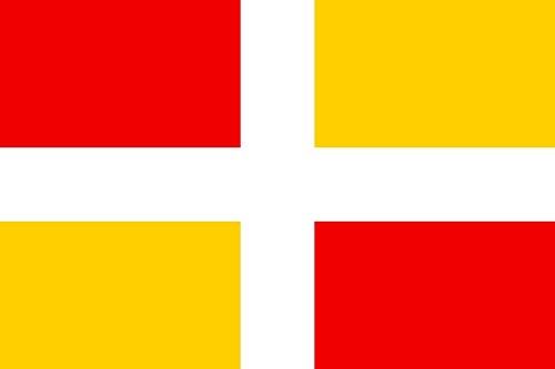magFlags Flagge: Large D Aix-en-Provence | Potential historical flag of Aix-en-Provence | Historique potentiel d Aix-en-Provence | Querformat Fahne | 1.35m² | 90x150cm » Fahne 100% Made