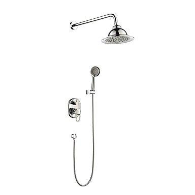 Preisvergleich Produktbild Duscharmaturen - Moderne Chrom Wandmontage Keramisches Ventil