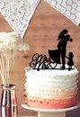 Topper per torta nuziale Silhouette sposo e