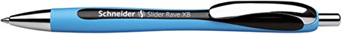 Schneider Schreibgeräte Kugelschreiber Slider Rave, Druckmechanik, XB, schwarz