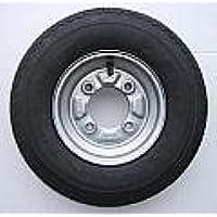 leisure MART Roue avec pneu, 4 couches 400 x 8 Entraxe 115 mm Pour remorque Daxara Erdé 107 127 et 121 122 LMX628