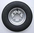 Picture Of 400 x 8 inch trailer wheel and tyre with 4 ply tyre and 115mm PCD for Daxara 107 127 and Erde 121 122 Pt no. LMX628