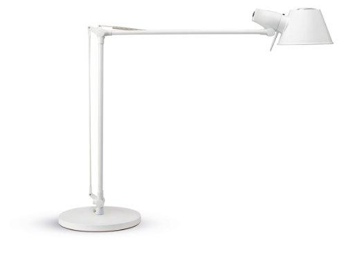Maulrock Tischleuchte,Warmweißes Licht, 1900 Lux, Aluminium, Weiß, 8234102 (1900 Klare Lichter)