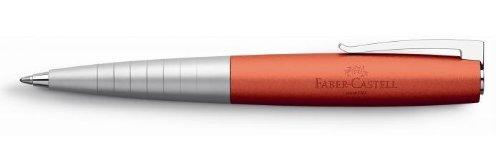 Faber-Castell 149302 – Bolígrafo Loom Metallic con cuerpo lacado metálico con forma cónica ergonómica, color naranja