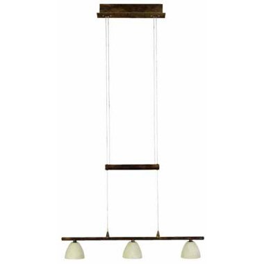 Height adjustable hanging light 3–Bulb Antwerp colour / design: Aged Copper / Champagne