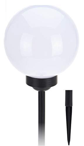 Lampe solaire à LED avec piquet - en 2 tailles - Réglable en hauteur en 3 tailles - avec 4 LED blanches. 15 cm