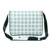 Pat Says Now Carrier Case für Notebook 34 cm (13,4 Zoll) bis 43,2 cm (17 Zoll) weiß Polka dot -