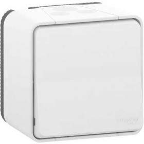Schneider Electric MUR39021 - Conmutador superficie blanco