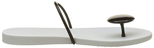 Ipanema Philippe Starck Thing U II Fem, Tongs Femme Blanc (White/Black)
