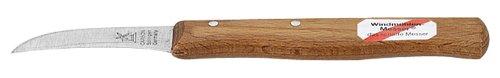 10002 Gemüsemesser 60 mm Buche langer Griff, gebogene Klinge (Herder Messer)