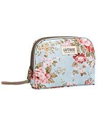 Lvtree Cosmetic Makeup Bag, Organizer Insert Cosmetici Borsa Travel Barrel bag multifunzione trousse, Blu