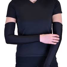 ZACHARIAS UV PROTECTION ARM SLEEVES FROM SUN/DIRT/POLLUTION (BLACK) Unisex  available at amazon for Rs.149