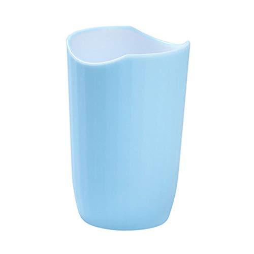 5lightrich Home Travel Supplies Bicolor Cup Zahnbürstenhalter Waschen Trinken Travel Home Badezimmer Zahnbecher Paar Gargle Cup Light Blue Light Blue Cup