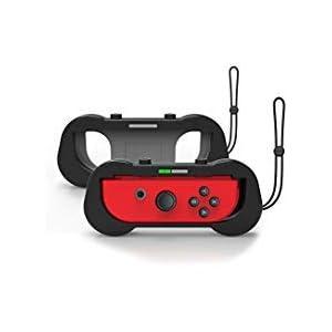 J & Top joy-con Griff für Nintendo Schalter, verschleißfest Komfort Game Controller Griff für Nintendo Schalter Joy CON, 2Stück (schwarz)