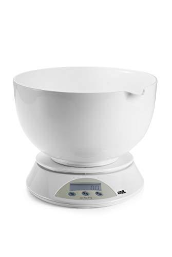 Bilancia da cucina digitale con ciotola.