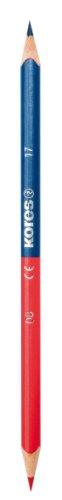 Kores Buntstifte Twin, 3-kant, 3 mm, 12 Stück, blau/rot