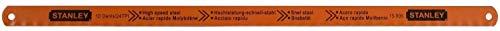 Stanley 0-15-900 Lame de scie à métaux Carte 5 Lames Rubis HSS Molybdène 8-10-12 Dents